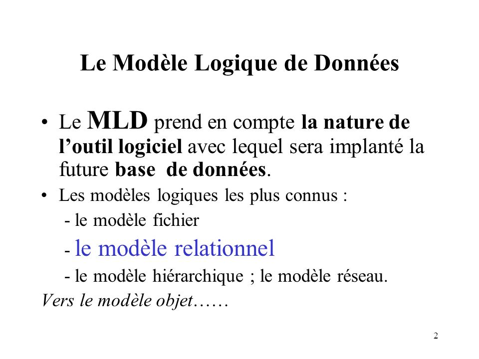 Le mod le logique de donn es ppt video online t l charger for Logique de base