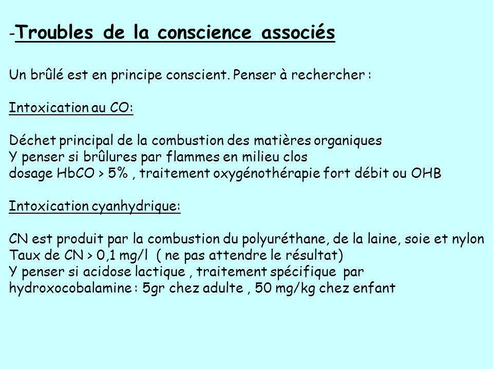 -Troubles de la conscience associés