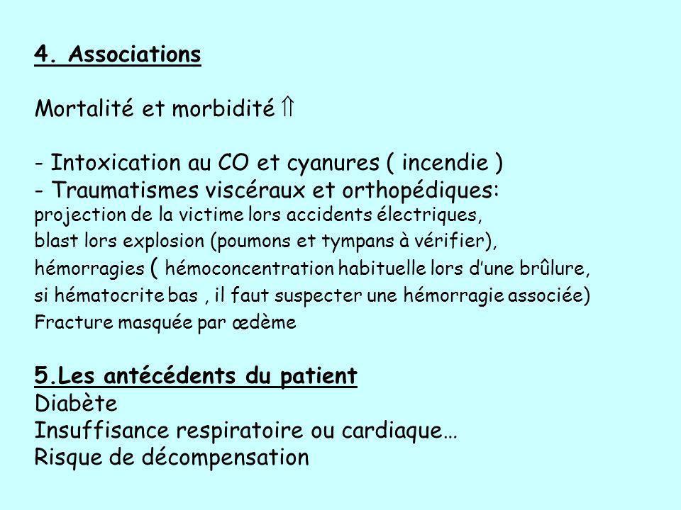 Mortalité et morbidité  - Intoxication au CO et cyanures ( incendie )