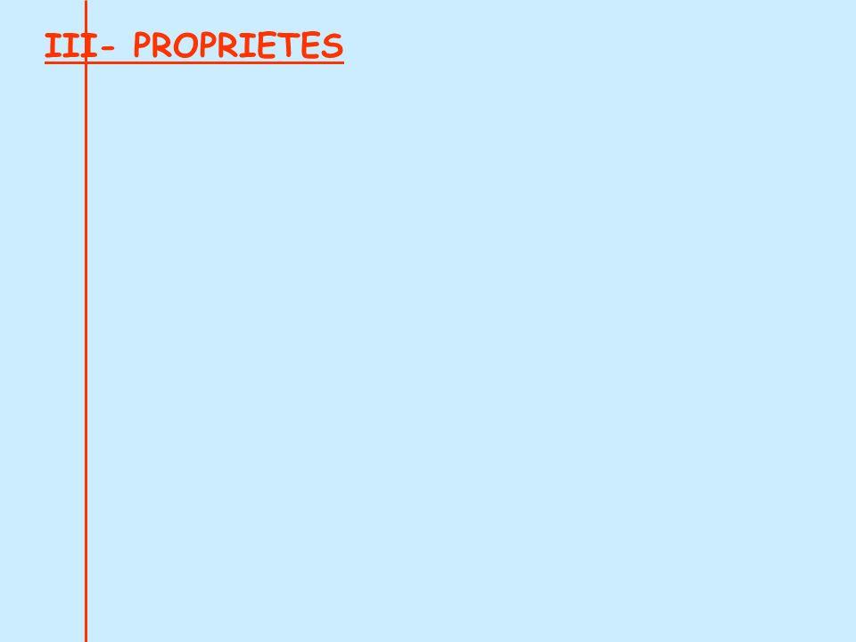 III- PROPRIETES