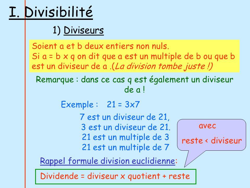 Remarque : dans ce cas q est également un diviseur de a !