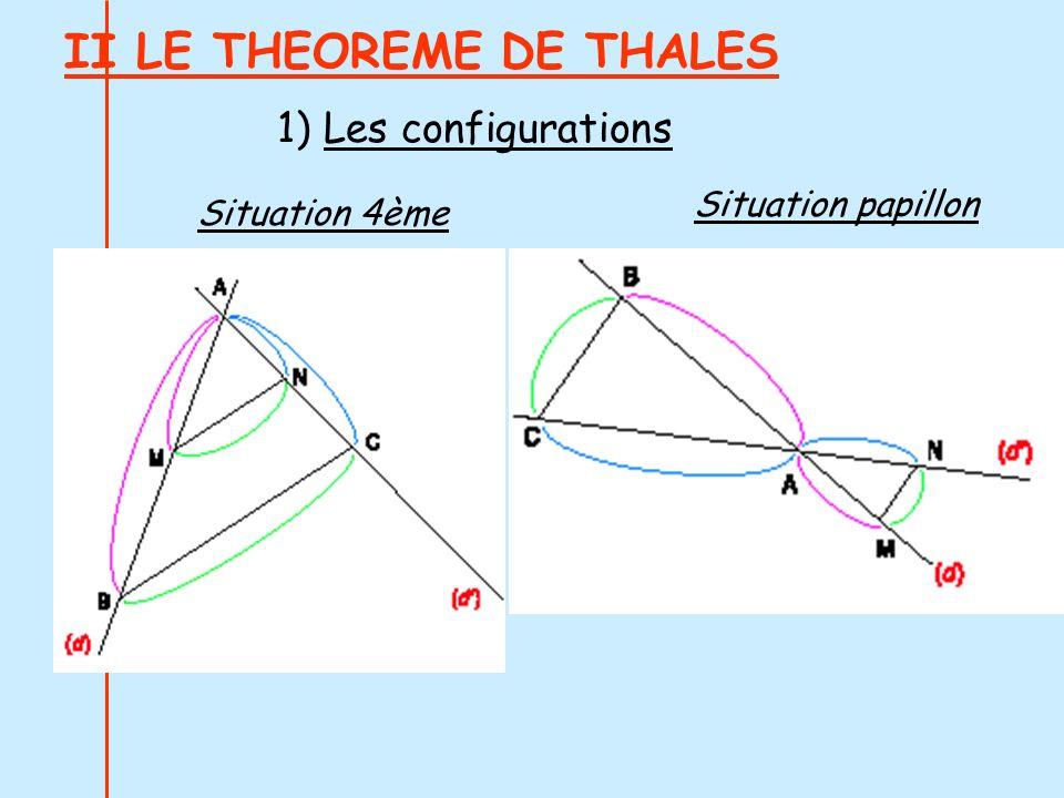 II LE THEOREME DE THALES