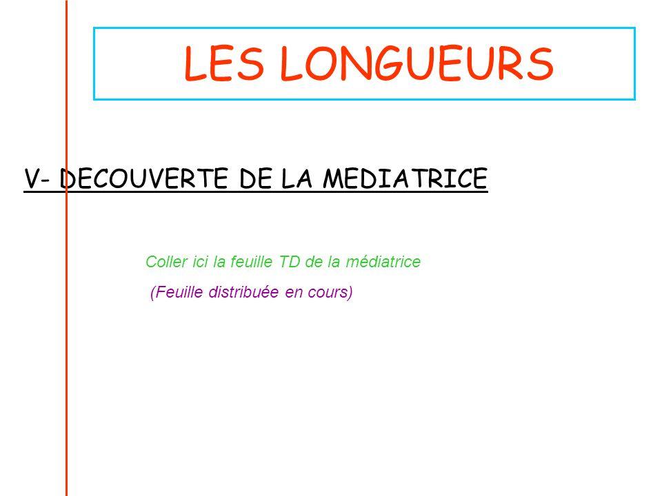 LES LONGUEURS V- DECOUVERTE DE LA MEDIATRICE