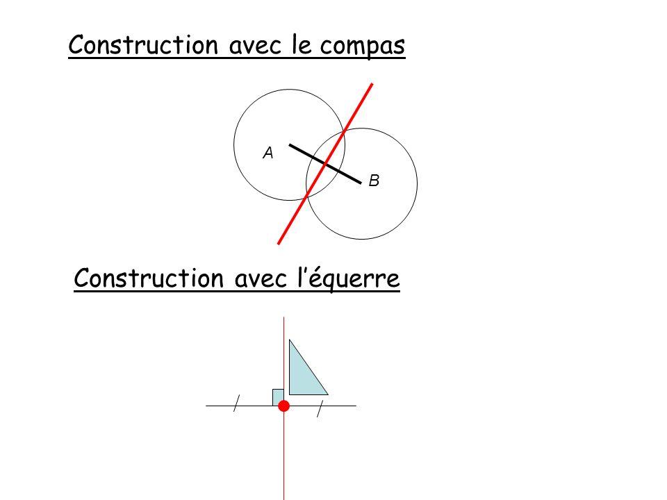Construction avec le compas