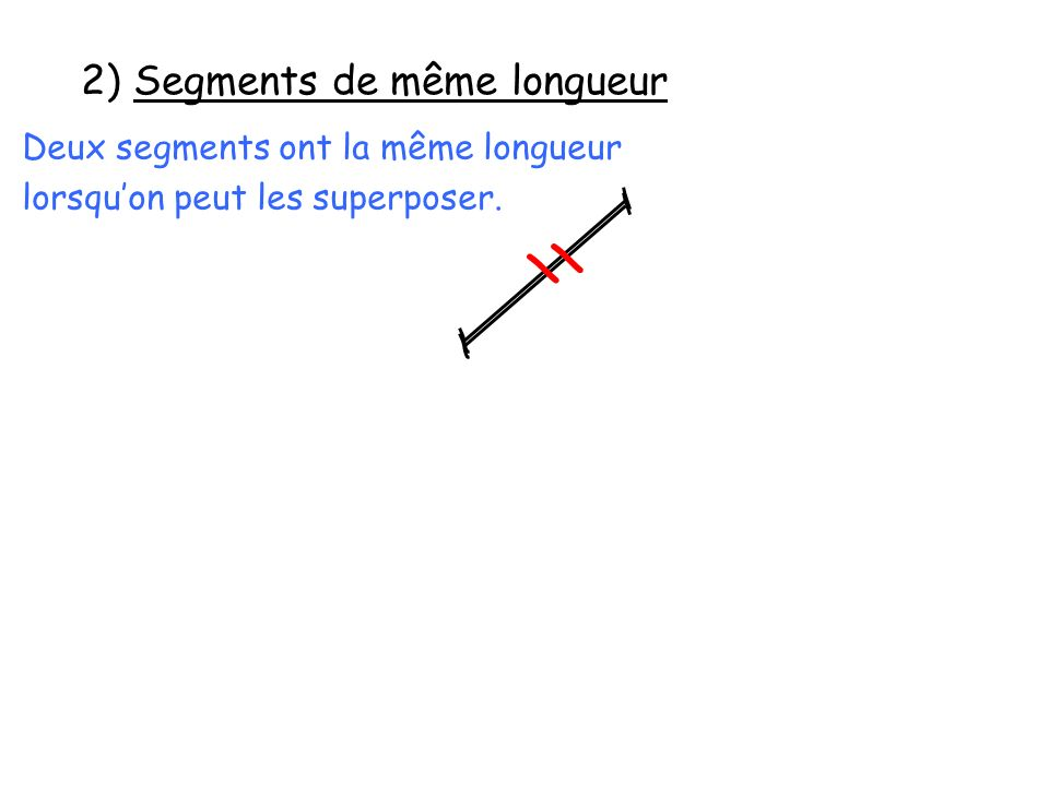 2) Segments de même longueur