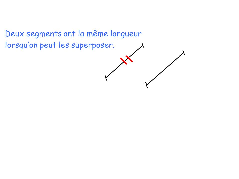 Deux segments ont la même longueur
