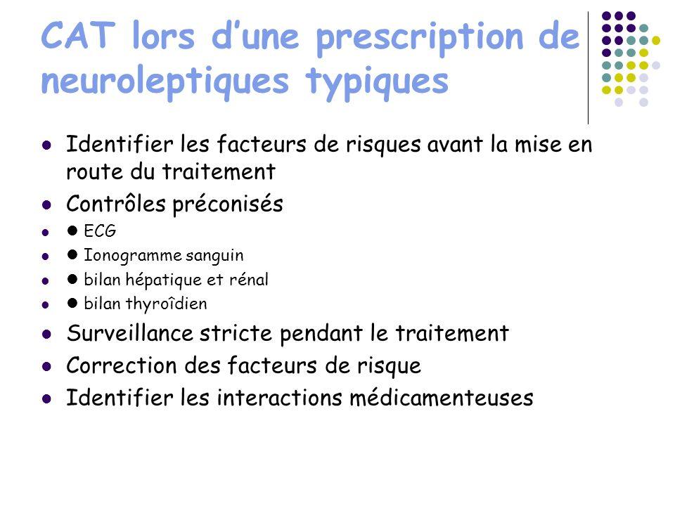 CAT lors d'une prescription de neuroleptiques typiques