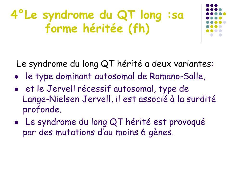 4°Le syndrome du QT long :sa forme héritée (fh)