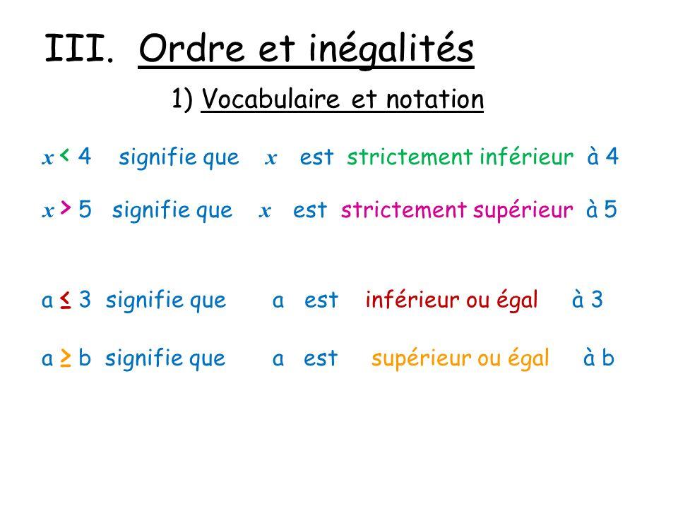 III. Ordre et inégalités