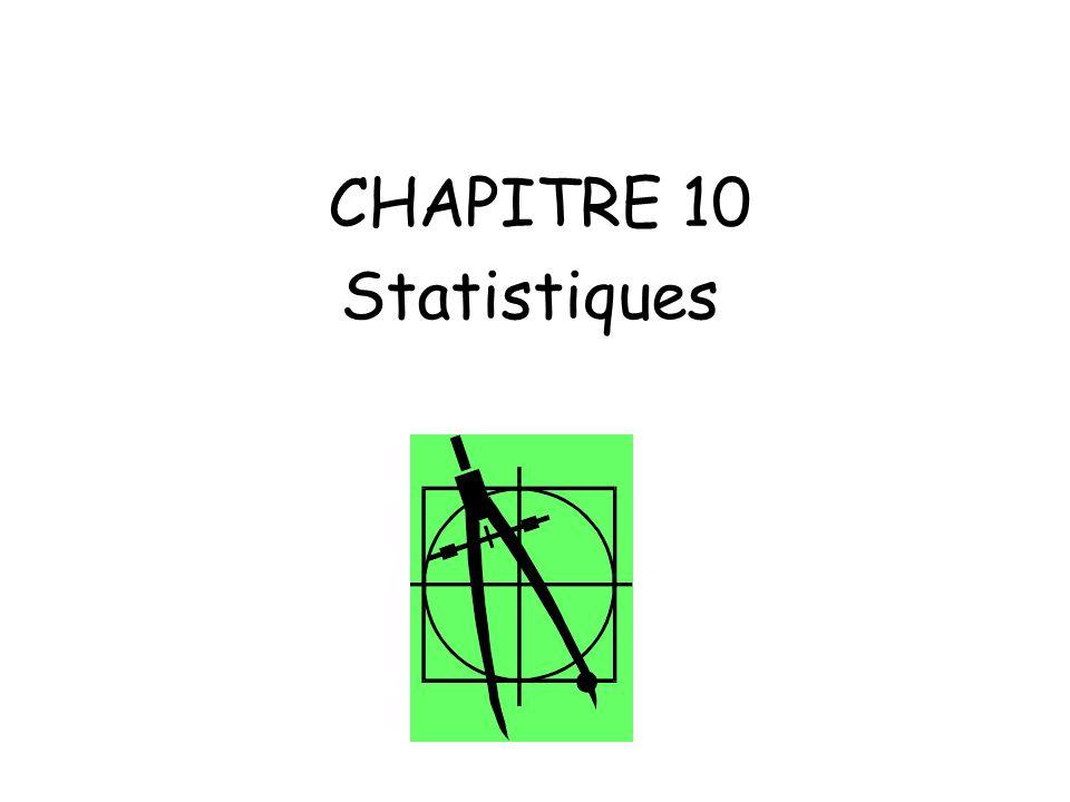 CHAPITRE 10 Statistiques