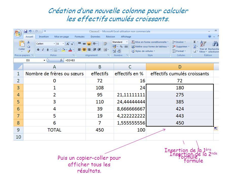 Création d'une nouvelle colonne pour calculer