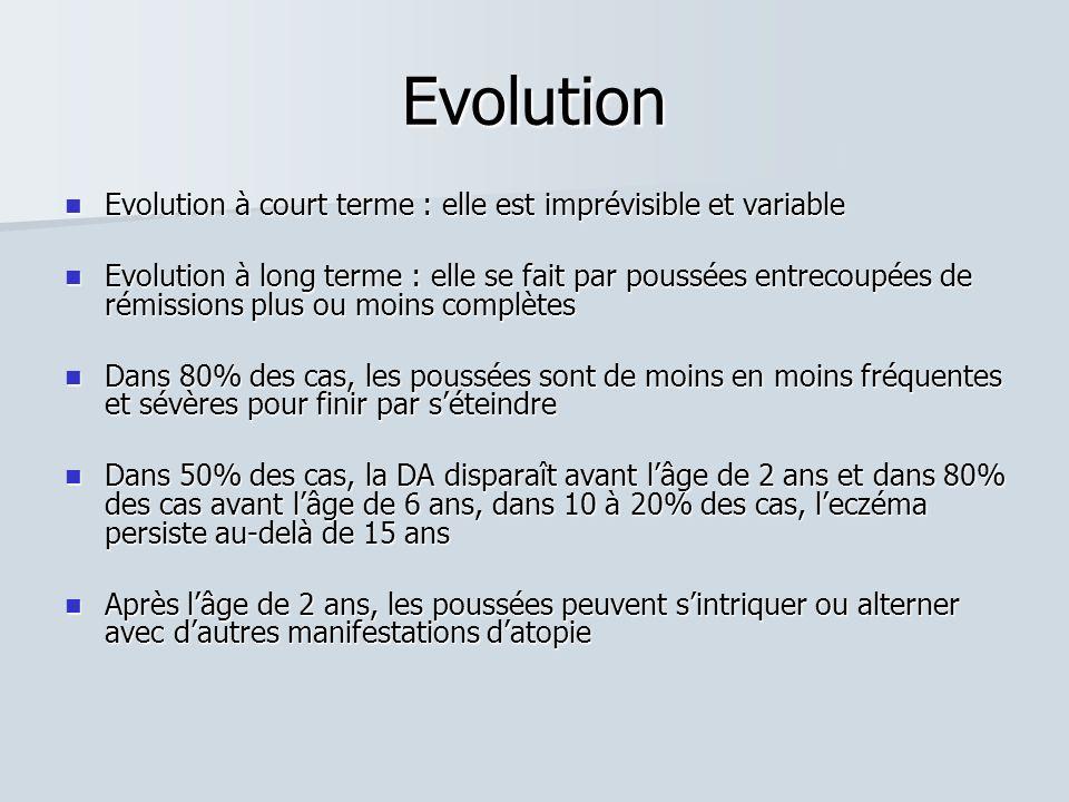 Evolution Evolution à court terme : elle est imprévisible et variable