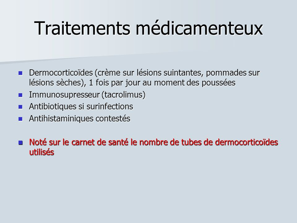 Traitements médicamenteux
