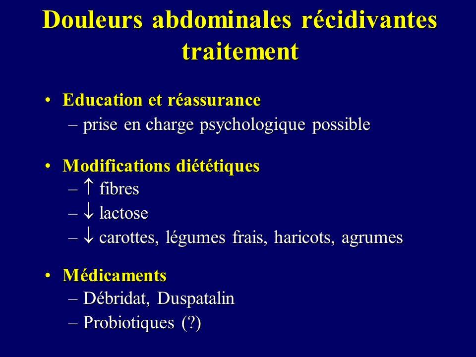 Douleurs abdominales récidivantes traitement