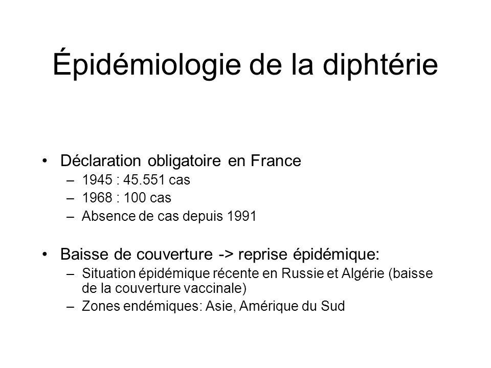 Épidémiologie de la diphtérie