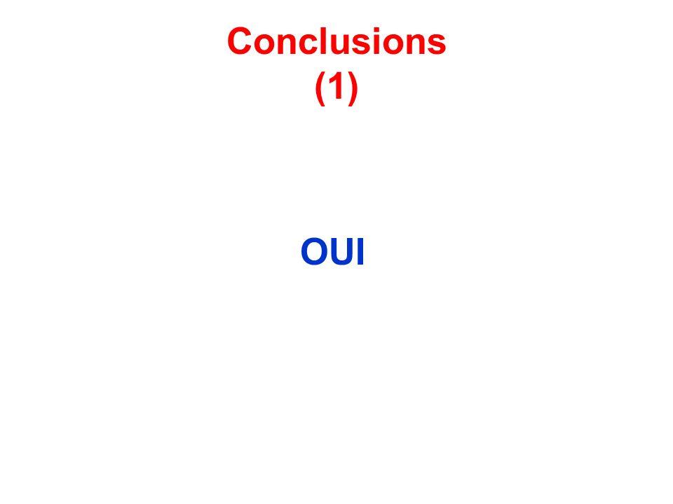 Conclusions (1) OUI