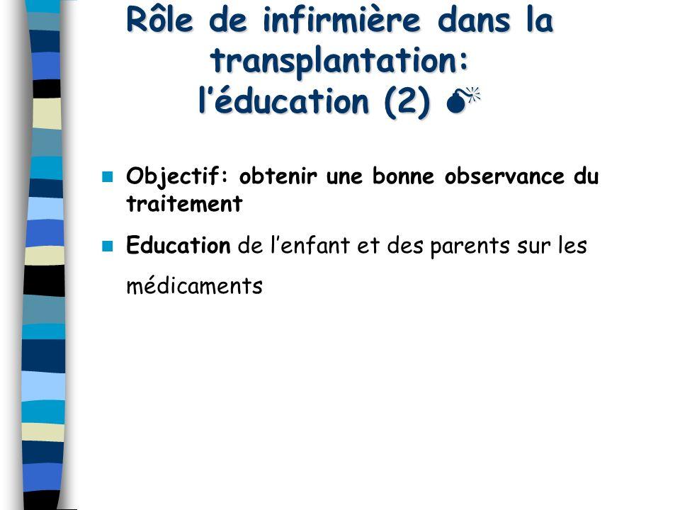Rôle de infirmière dans la transplantation: l'éducation (2) 