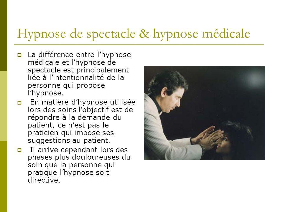 Hypnose de spectacle & hypnose médicale