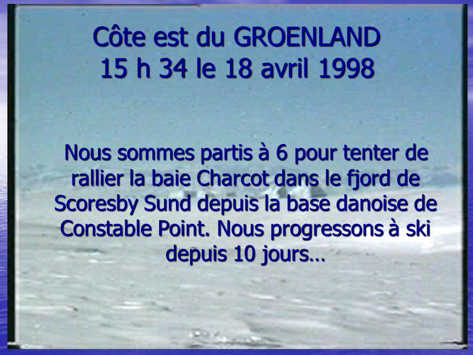 Côte est du GROENLAND 15 h 34 le 18 avril 1998