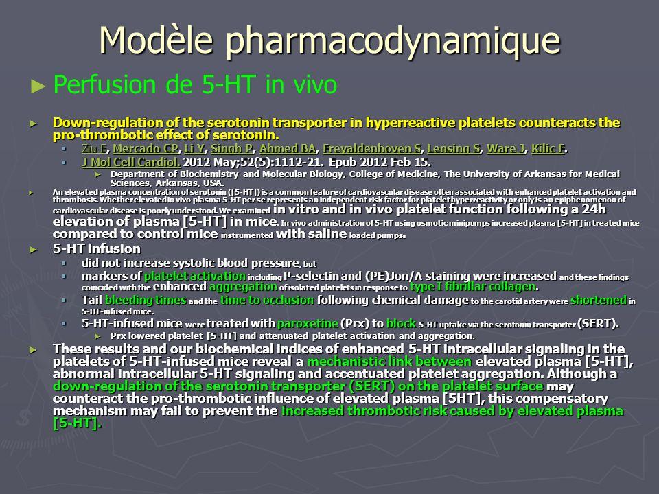 Modèle pharmacodynamique
