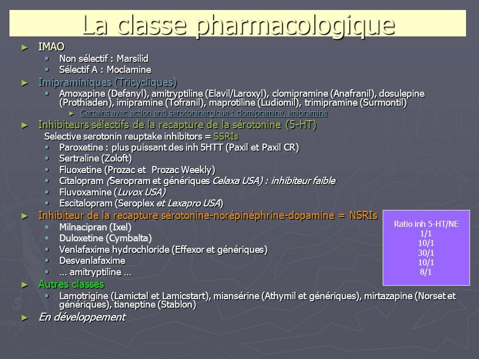 La classe pharmacologique