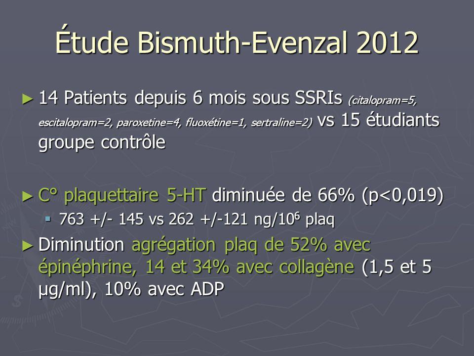 Étude Bismuth-Evenzal 2012