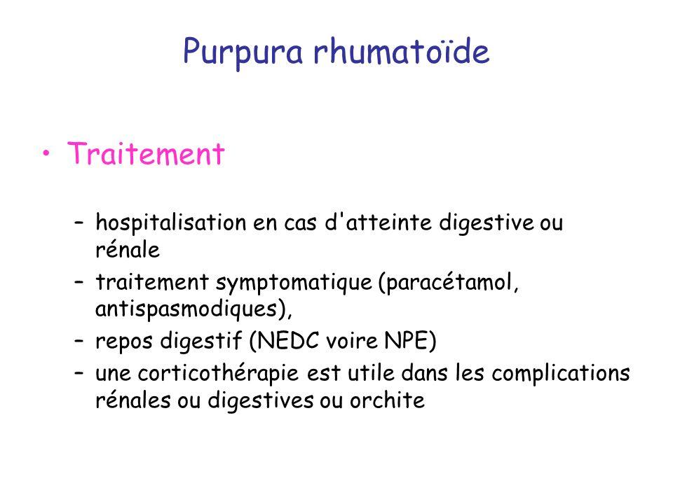 Purpura rhumatoïde Traitement