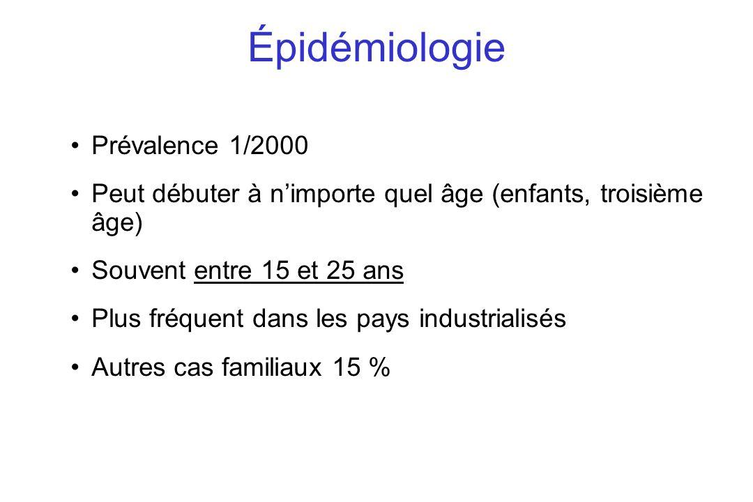 Épidémiologie Prévalence 1/2000