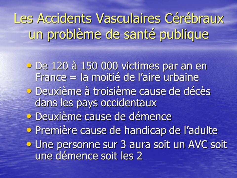 Les Accidents Vasculaires Cérébraux un problème de santé publique
