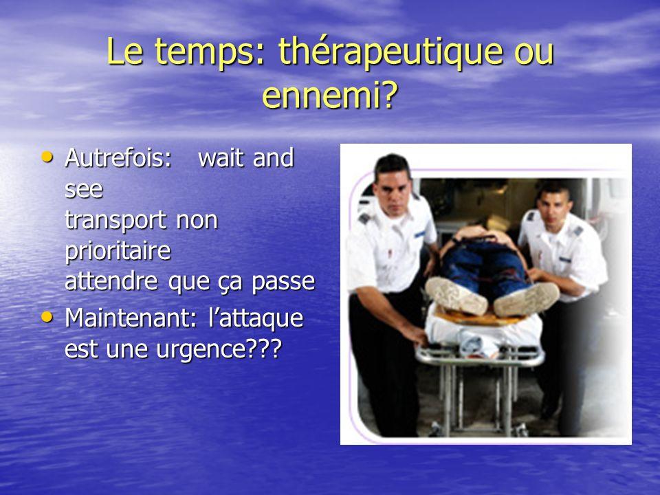 Le temps: thérapeutique ou ennemi