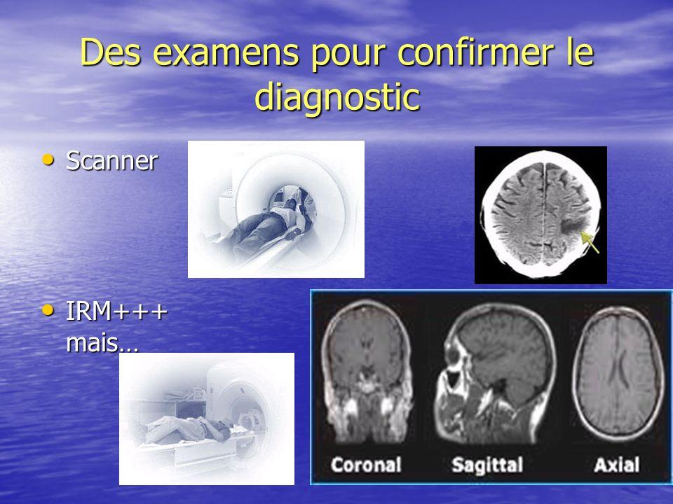 Des examens pour confirmer le diagnostic