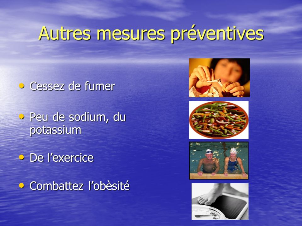 Autres mesures préventives