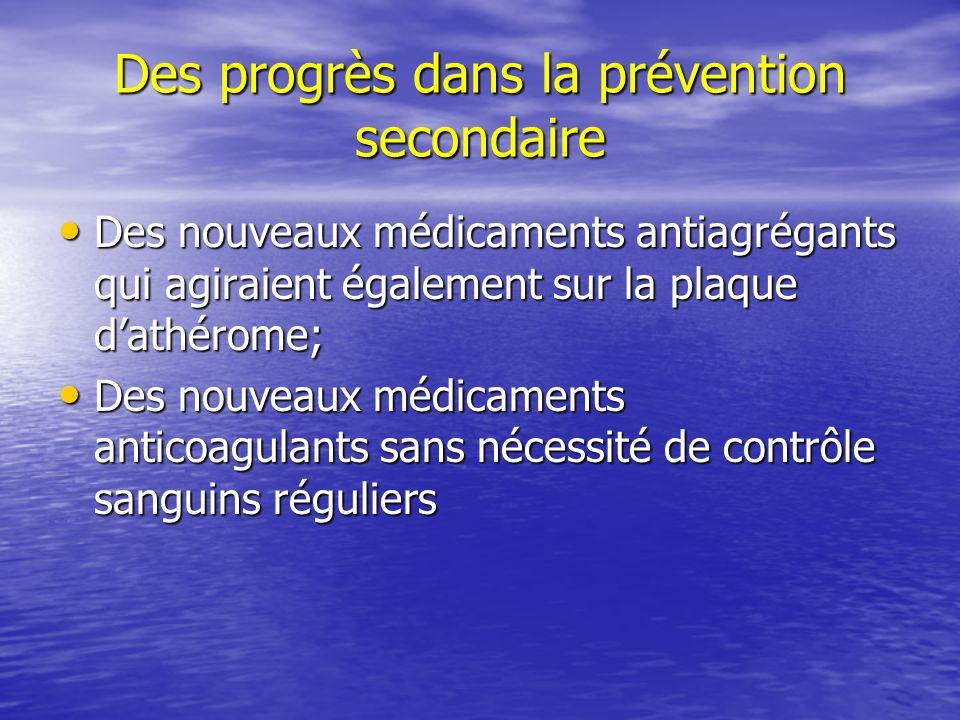 Des progrès dans la prévention secondaire