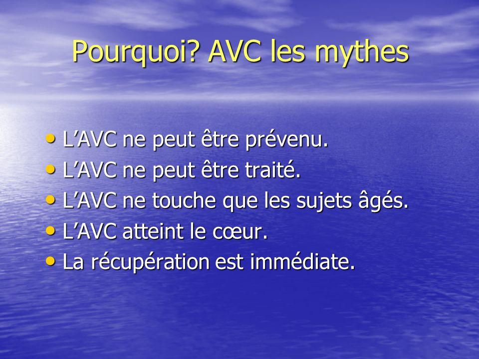 Pourquoi AVC les mythes