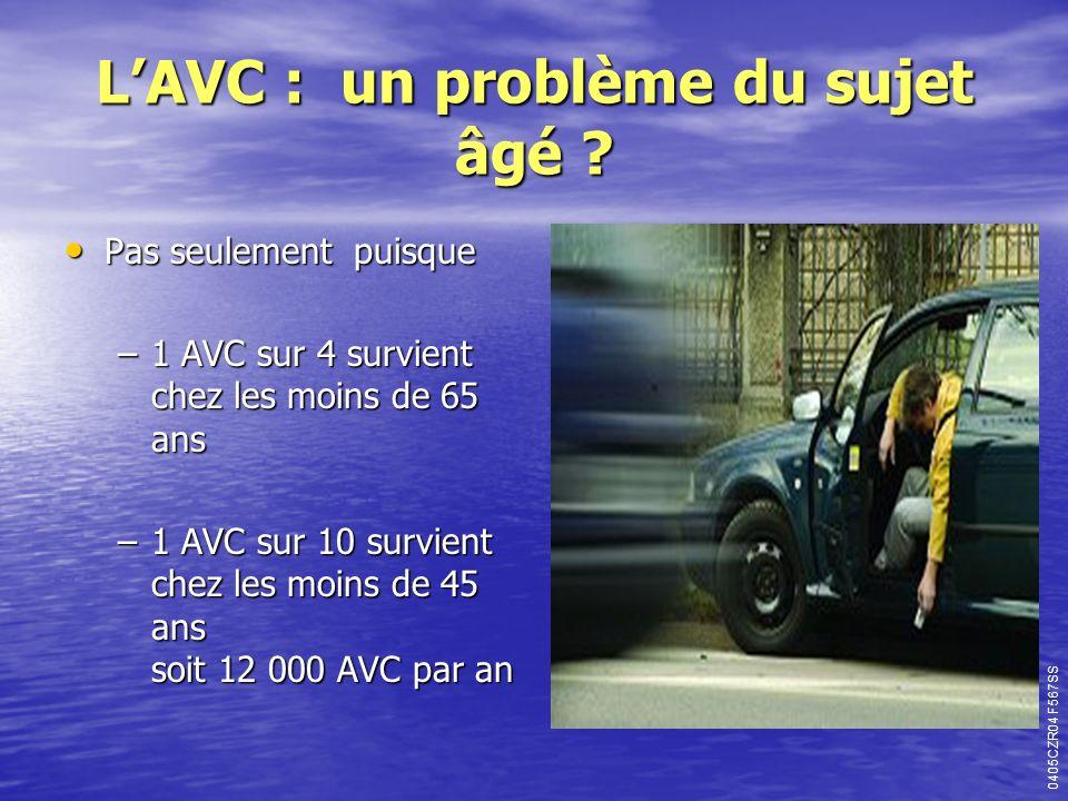 L'AVC : un problème du sujet âgé