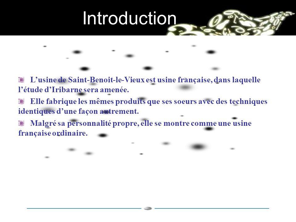 Introduction L'usine de Saint-Benoit-le-Vieux est usine française, dans laquelle l'étude d'Iribarne sera amenée.
