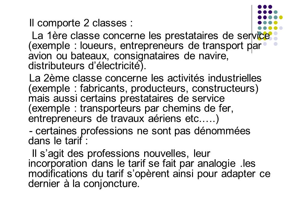Il comporte 2 classes :
