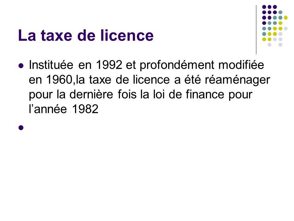 La taxe de licence