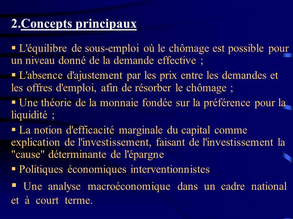 Une analyse macroéconomique dans un cadre national et à court terme.