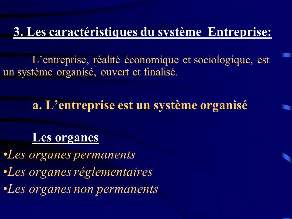 3. Les caractéristiques du système Entreprise: