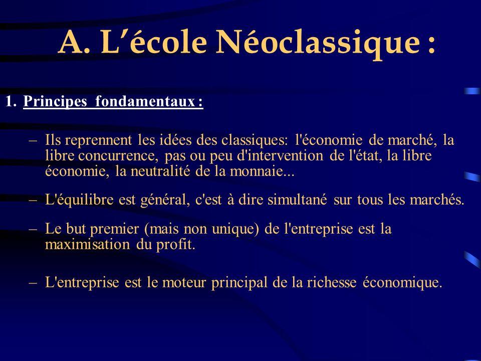 A. L'école Néoclassique :