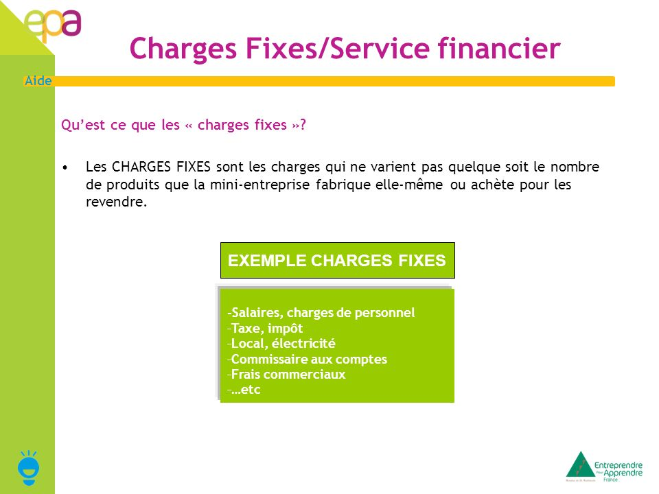 Charges Fixes/Service financier