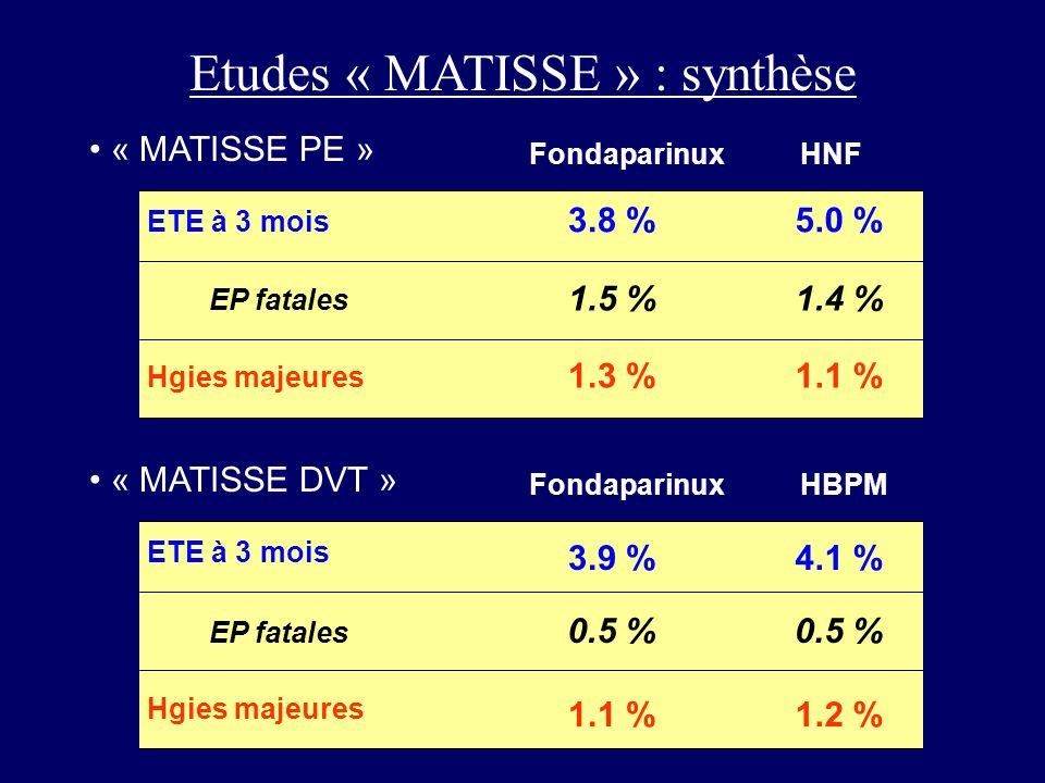 Etudes « MATISSE » : synthèse