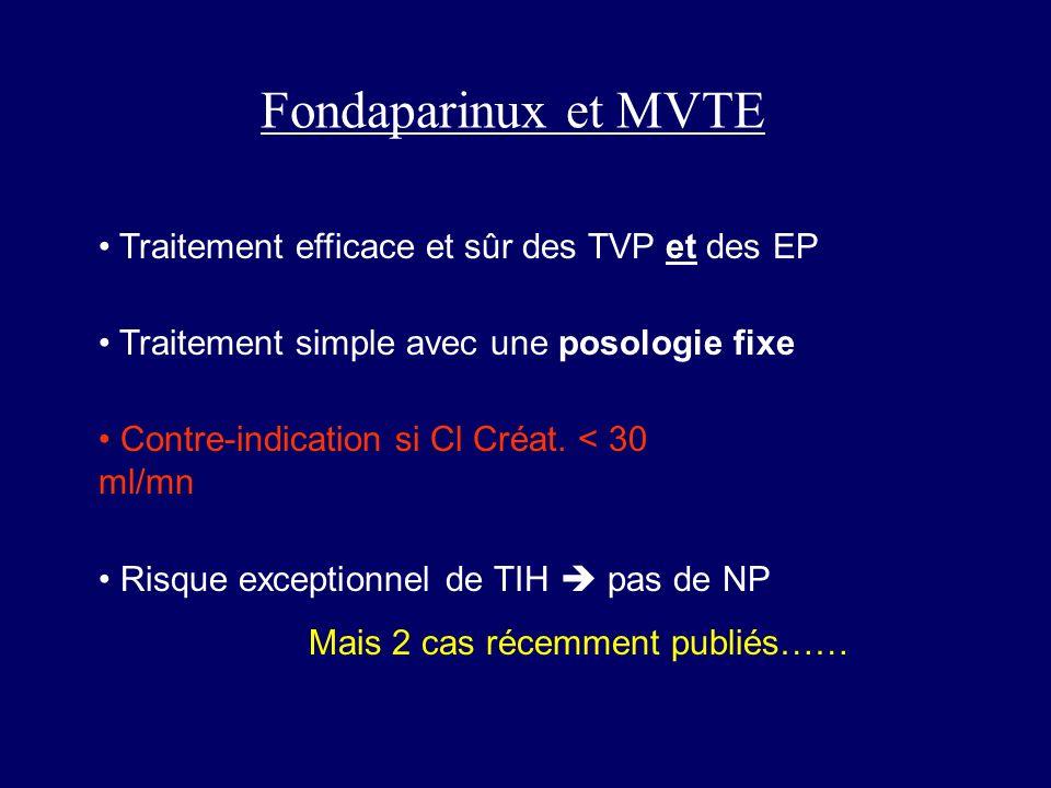 Fondaparinux et MVTE • Traitement efficace et sûr des TVP et des EP
