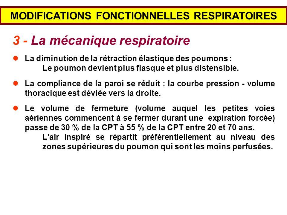 MODIFICATIONS FONCTIONNELLES RESPIRATOIRES