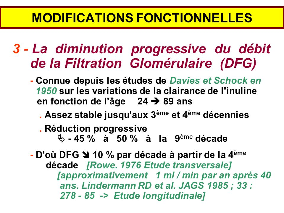 MODIFICATIONS FONCTIONNELLES