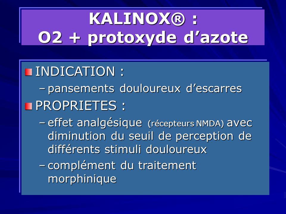 KALINOX® : O2 + protoxyde d'azote