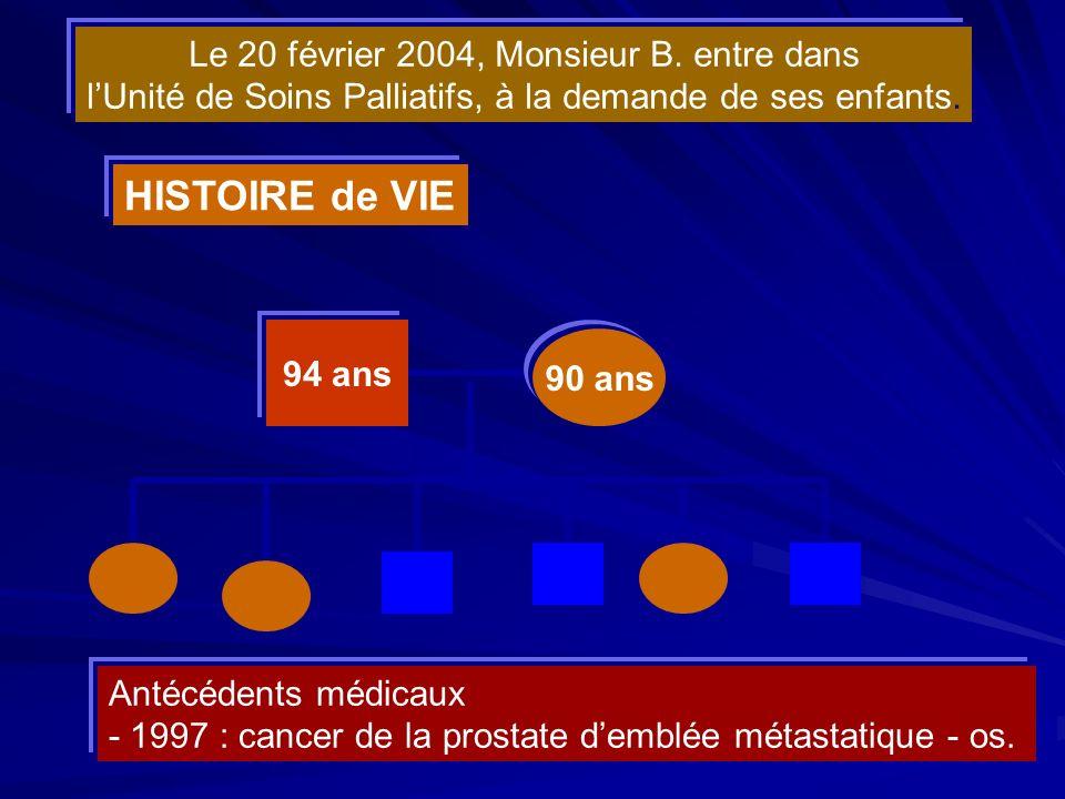 HISTOIRE de VIE Le 20 février 2004, Monsieur B. entre dans