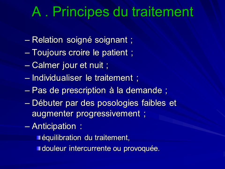 A . Principes du traitement