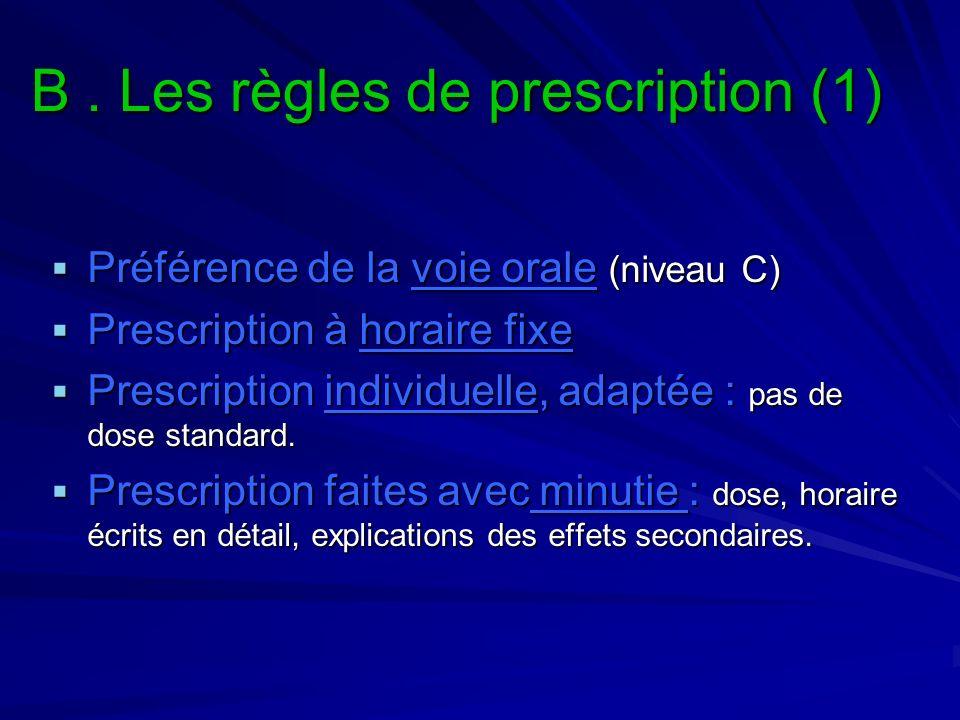 B . Les règles de prescription (1)